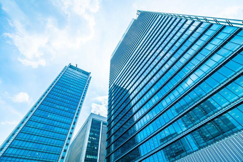 edificios luz verde opt